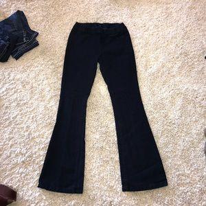 Forever 21 elastic waist super flare jeans